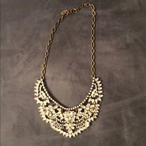 BaubleBar crystal rapunzel bib necklace